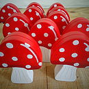 Wooden Toadstool Decoration/Placecard Holder