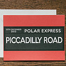 Three Personalised Polar Express Cards