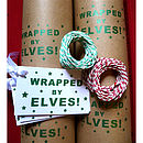 Wrapped By Elves! Handmade Wrapping Paper