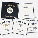 Example personalised I Promise gift to men