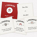 Example personalised red I Promise gift for anniversary