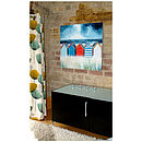 Beach Huts Canvas Painting