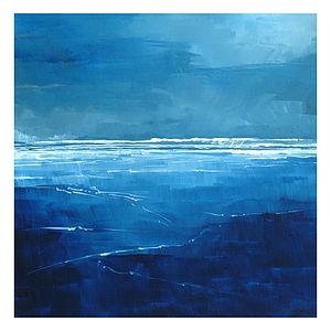 Calm Sea Canvas Painting - paintings & canvases