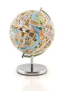 Illustrated Bath Globe