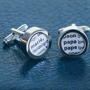 French Dictionary Definition Cufflinks - cufflinks