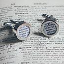 Personalised Irish Dictionary Cufflinks