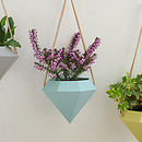 Diamond Hanging Planter - Blue