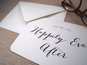 'And They Lived Happily Ever After' Card