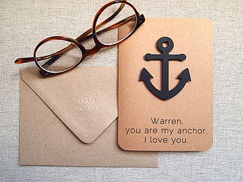 Personalised Anchor Card