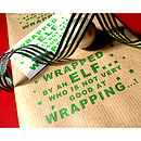 'Clumsy Elf' Hand Printed Gift Wrap Set