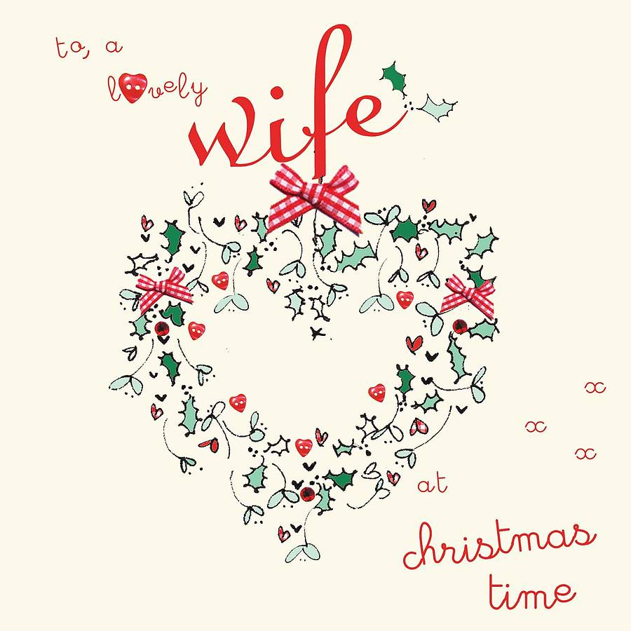 Christmas greetings for wife wallpapers hd quality handmade wife husband christmas card by laura sherratt designs image source from this kristyandbryce Choice Image