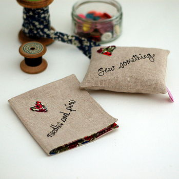 Pin Cushion And Needle Book Set