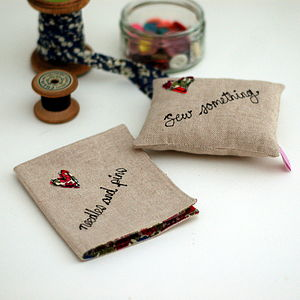 Pin Cushion And Needle Book Set - sewing & knitting