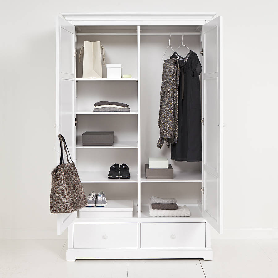 White Two Door Wardrobe By Nubie Modern Kids Boutique