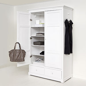 White Two Door Wardrobe - bedroom