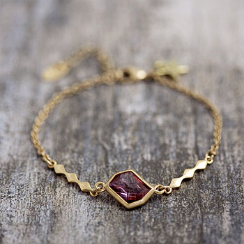 Diamond Shape Bracelet Made With Swarovski Crystals