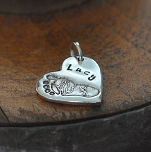 Personalised Hand Or Footprint Charm - jewellery for her