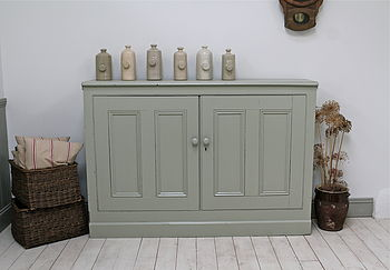Large Painted Pine Cupboard