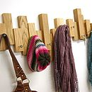 Asymmetric Blocks Coat Rack