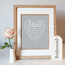 Bride to be Framed Grey