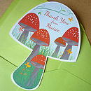 20 Personalised Toadstool Thank You Cards