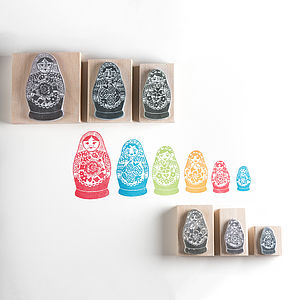 Russian Dolls Stamps - cards & wrap