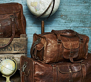 Leather Duffel Travel Bag - bags & cases