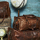 Leather Duffel Travel Bag