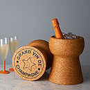 Giant Champagne Cork Cooler + Free Custom Coasters