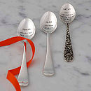 Personalised Silver Plated Spoon