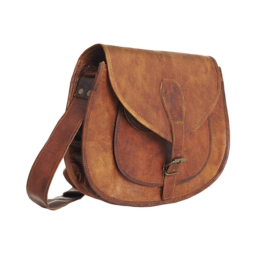Brown Leather Handbag in Townsville :: Wallets