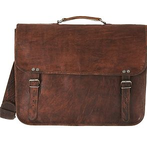 Unisex Satchel With Top Handle - bags & cases
