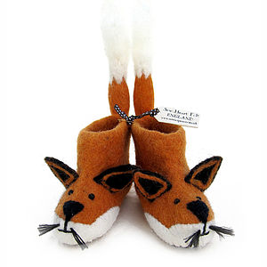 Adult Finlay Fox Felt Slippers - view all gifts for her