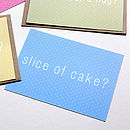 'Slice Of Cake' Notecard