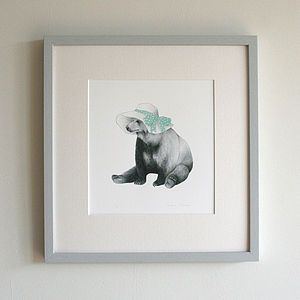 Signed Summer Bear Print - summer sale