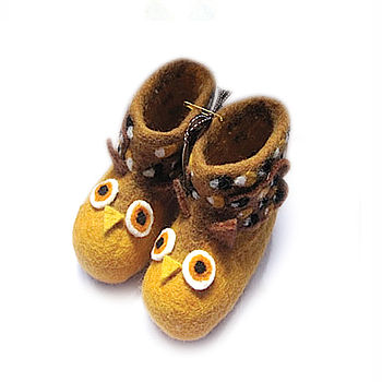 Children's Oakley Owl Felt Slippers
