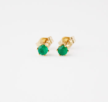 Gold Filled And Gemstone Stud Earrings