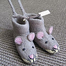 Children's Mae Mouse Felt Slippers