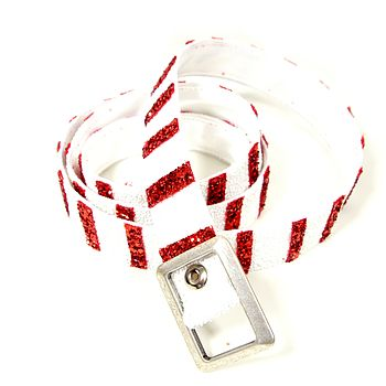 Candy Stripe Skinny Belt