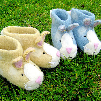 Children's Ruby Rabbit Felt Slippers