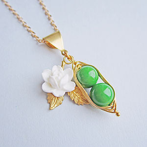 You're My Sweet Pea Pea Pod Necklace - necklaces & pendants