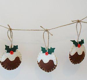 Festive Christmas Pudding Garland - garlands & bunting