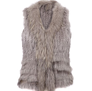 Rabbit Fur Gilet By The Soho Furrier - women's fashion