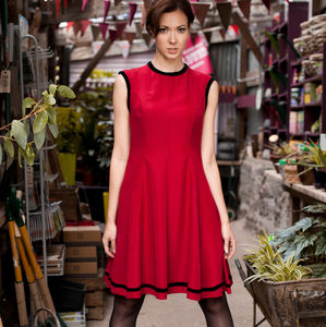 Paris Dress Berry Red - fashion sale