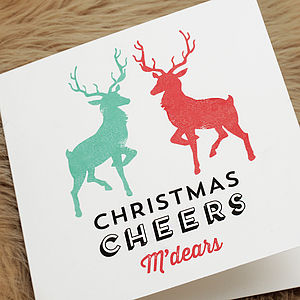 'Christmas Cheers M'dears' Card - christmas cards: packs