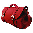 Handcrafted Red Leather Preston Bag