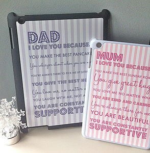 Personalised 'I Love You Because…' iPad Case