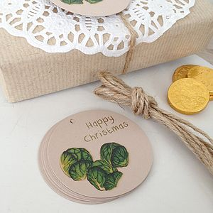 'Cheeky Little Sprout' Christmas Gift Tags - cards & wrap