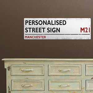 Personalised British Street Sign Wall Sticker - decorative accessories
