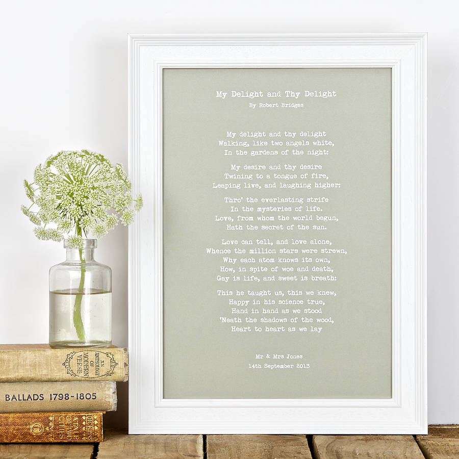 personalised my words print typewriter style